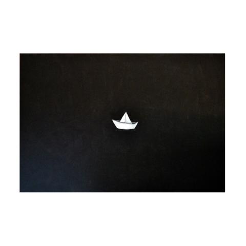 Titolo: Origami Tecnica: Acrilico Su tela Dimensioni: 150 cm x 100 cm Data: 2018 Collezione Personale
