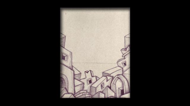 Titolo: Castello Tecnica: Penna a sfera su cartoncino Dimensioni: 14 cm x 18 cm Data: 2018 Collezione Personale