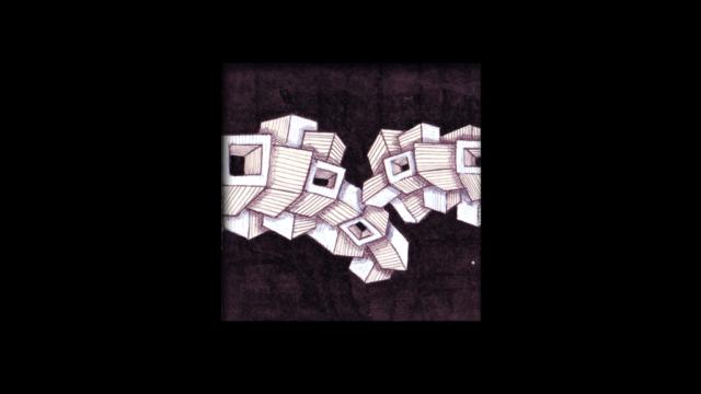 Titolo: Tettonica delle Placche su sfondo nero Tecnica: Penna a sfera su cartoncino e uniposca Dimensioni: 14 cm x 14 cm Data: 2018 Collezione Personale